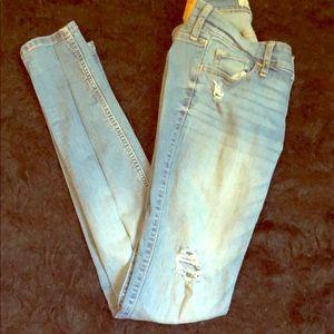 Blue distressed Hollister  jeans 3R